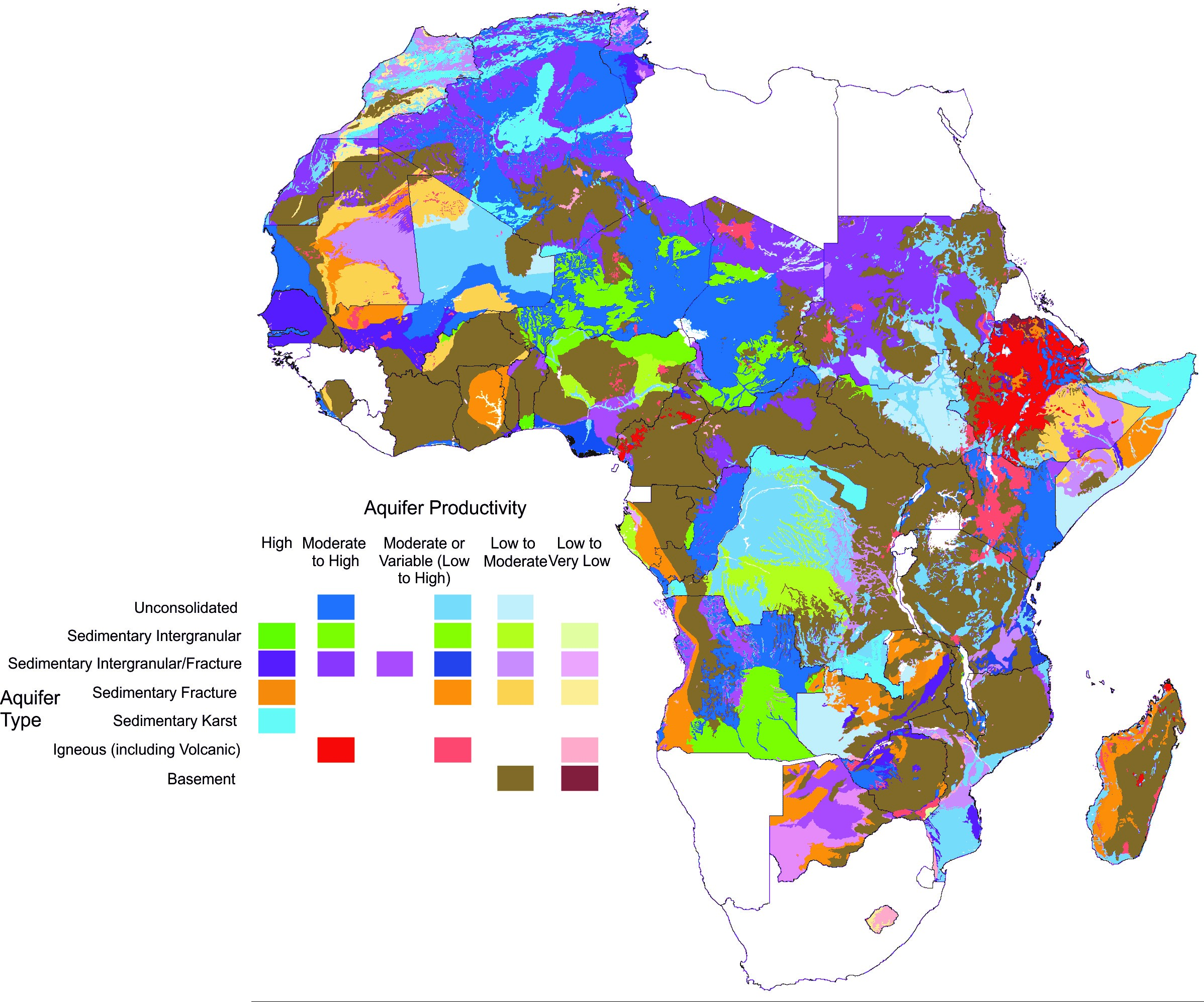 Map Of Francophone Africa.Download Digital Country Hydrogeology Maps Of Africa New